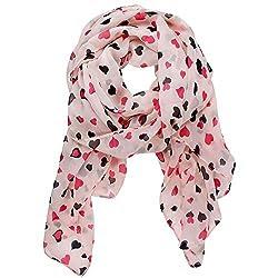 Pink Heart Chiffon Scarf $3.19...