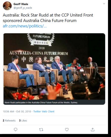 Kevin Rudd at Australia-China Future Forum tweet