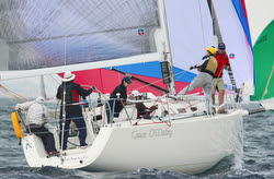 J/109 sailing off San Diego, CA