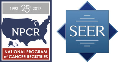 Logos of CDC's National Program for Cancer Registries (NPCR) and the National Cancer Institute's (NCI's) Surveillance, Epidemiology, and End Results (SEER) Program