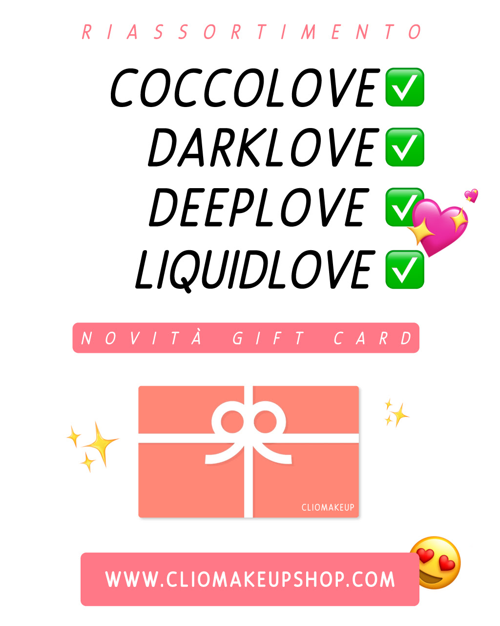 restock coccolove darklove deeplove liquidlove