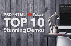 PSD2HTML Faves: TOP 10 stunning demos