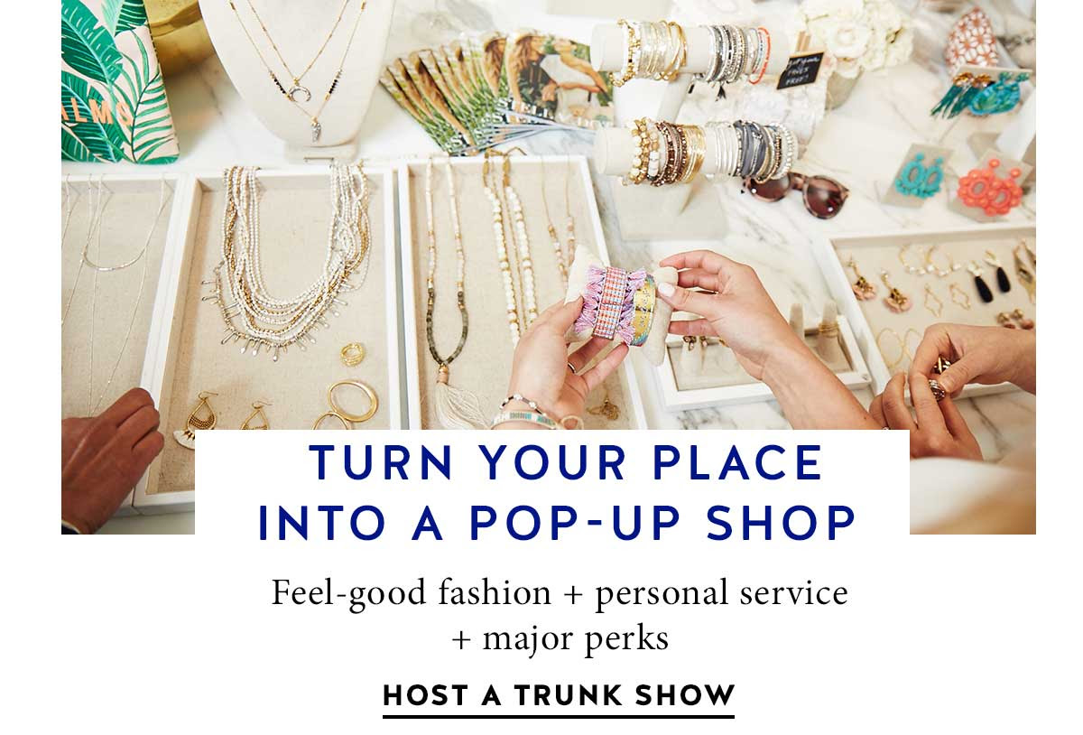 Turn your place into a pop-up shop