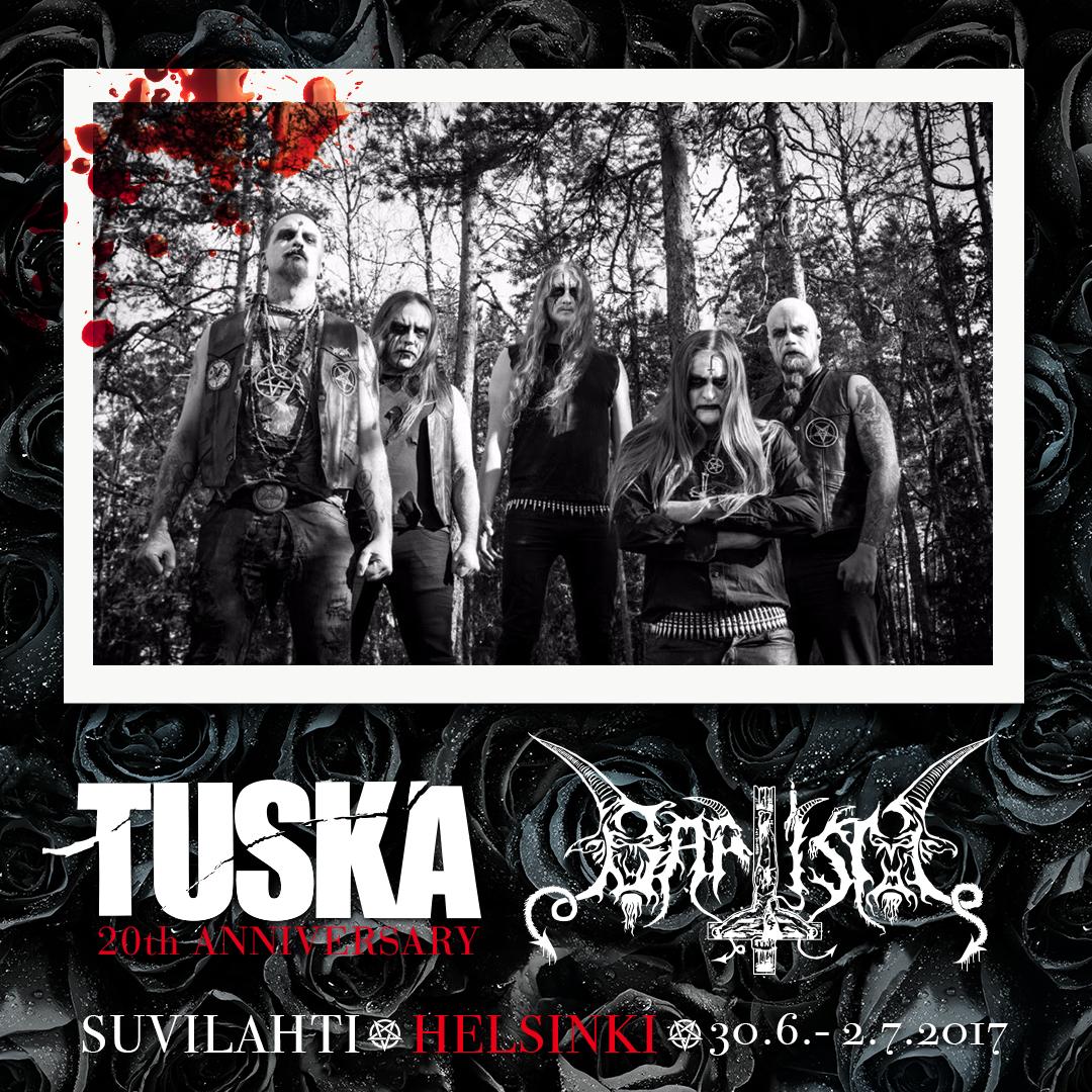 BAPTISM poster Tuska 2017