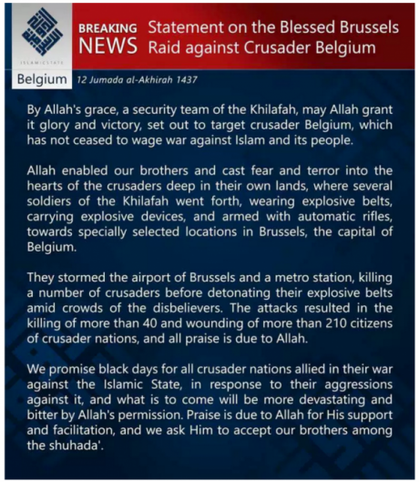 ISIS Statement