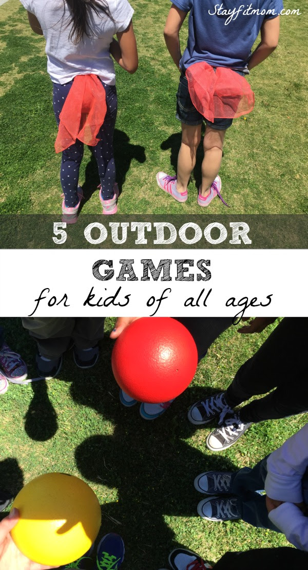 These are the top 5 outdoor games your kids will love! Head to a nearby park with a few pieces of equipment for some outdoor physical activity for the whole family!