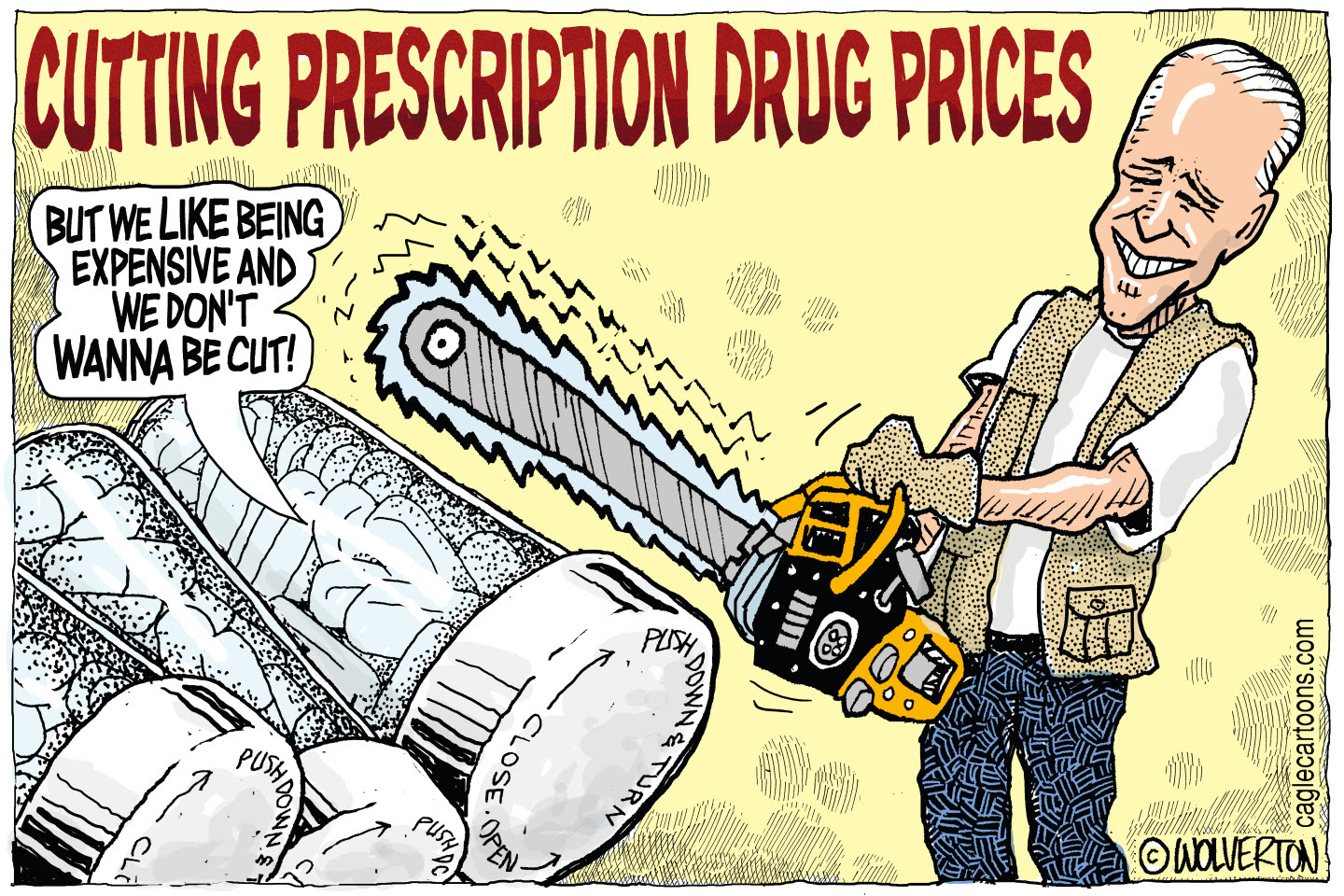 President Biden proposes to cut the price of prescription drugs. Republicans backed by pharma donations oppose the measure.