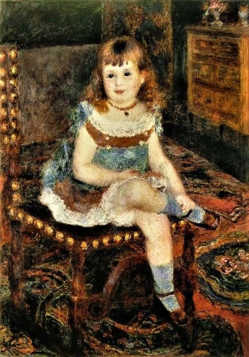 Ренуар   Портрет мадмуазель Жоржетты Шарпантье   1876 (489x700, 154Kb)