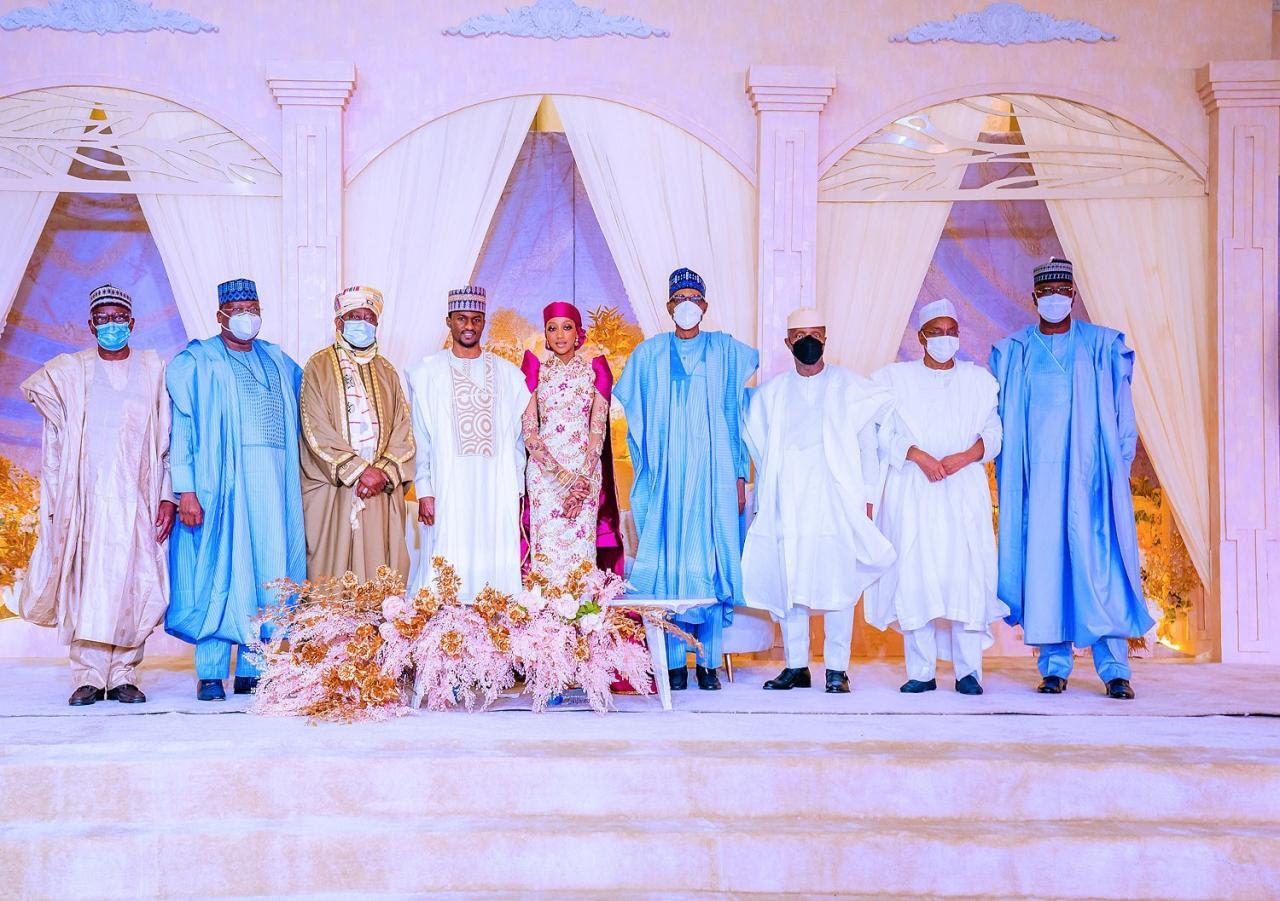 Buhari, Osinbajo, others at Yusuf and Zahra