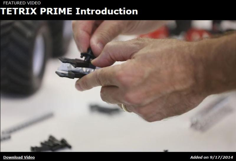 TETRIX PRIME video intro shot