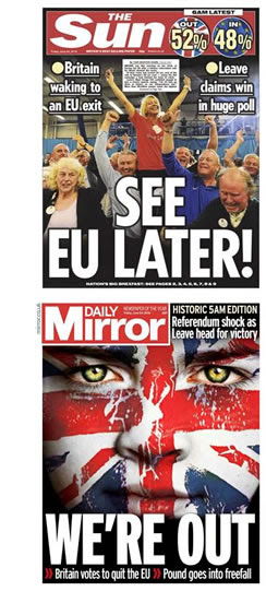 daily mirror sun newspaper