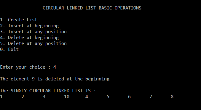 circular-singly-linked-list-deletion-beginning