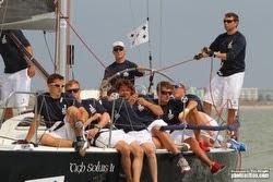 J/109 sailing J/Cup on Solent, England