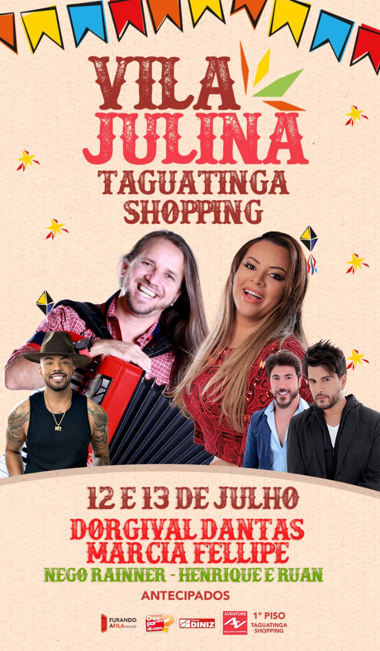 Vila Julina anima Taguatinga Shopping com 'arraiá' e comidas típicas