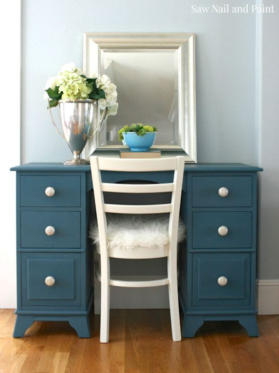 Your Inspired Design Link Party - Seaside Blue Desk