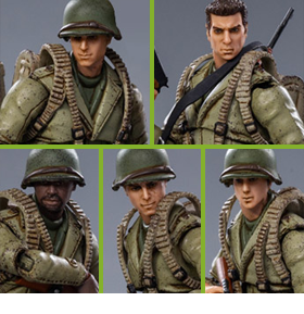 WWII US Army 1/18 Scale Figures Five-Pack