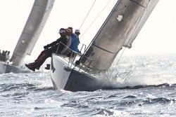 J/80 sailing off Italy
