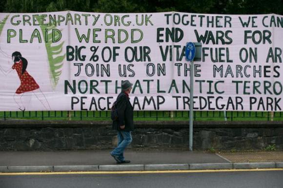 Protestas contra la cumbre de la OTAN en Gales 10