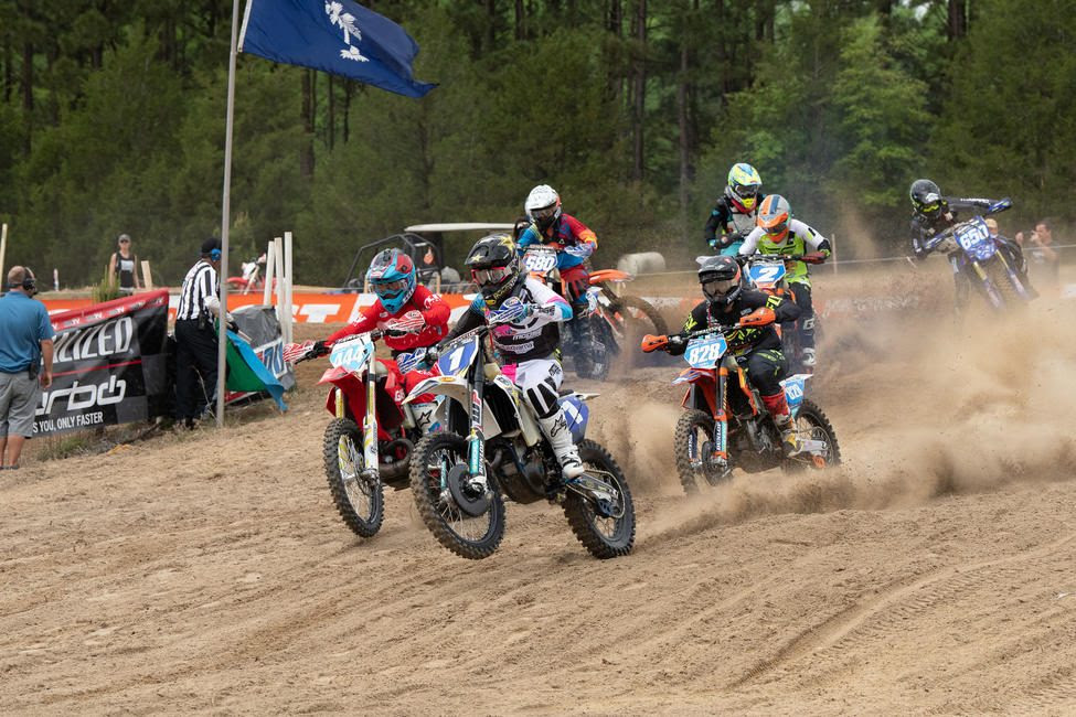 Tayla Jones jumped out to grab the holeshot Sunday morning and take the early lead.