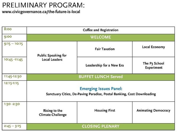 The Future is Local preliminary program