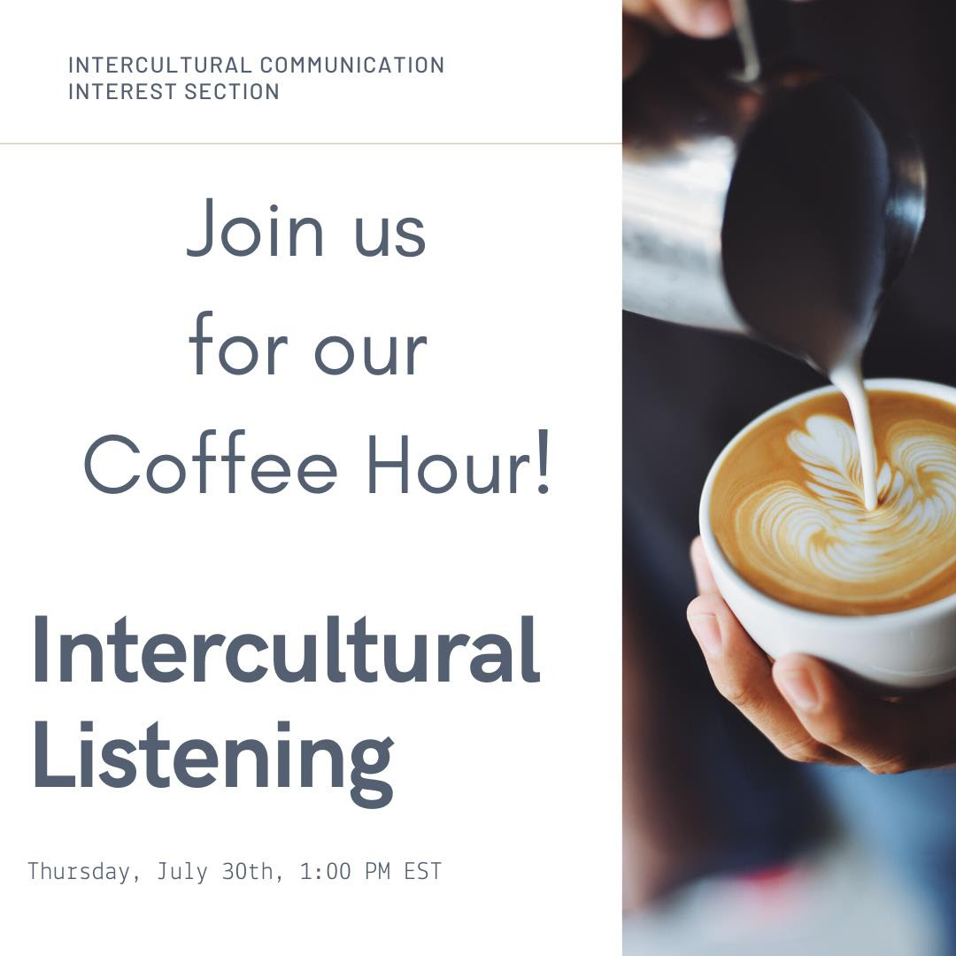 ICIS Coffee Hour Invitation, Thursday July 30th, 1:00 PM EST