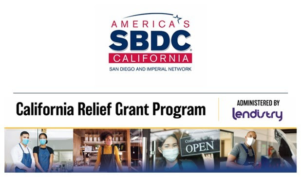 Graphic header for SBDC - California Relief Grant Resources