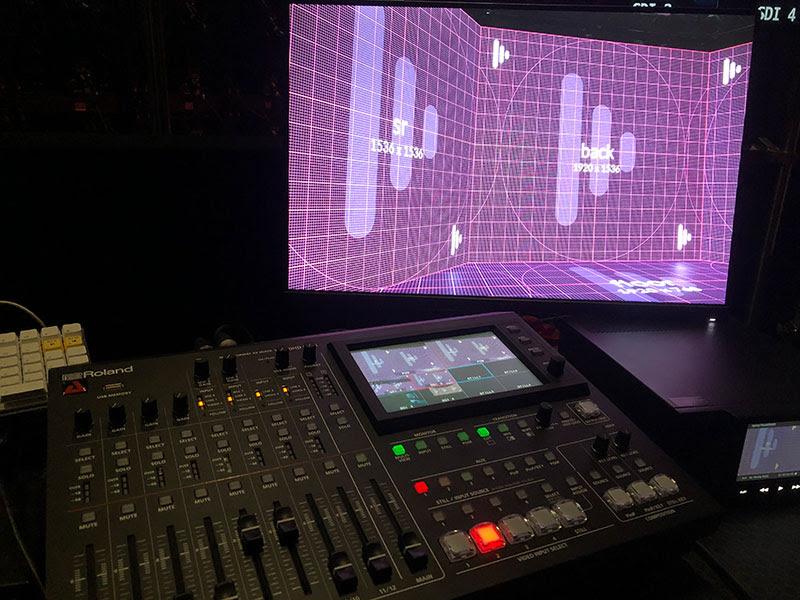 The Roland VR-50HD MK II Multi-format AV Mixer at AED Studios.