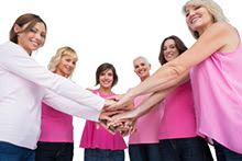 Group of women in pink.