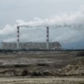 Coal plant and mine pit
