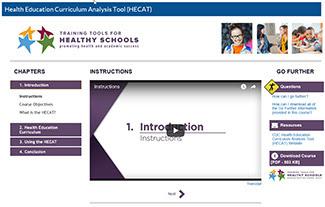 HECAT training module screenshot