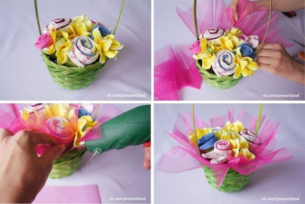 How to DIY  Baby Clothes Flower Bouquet 6