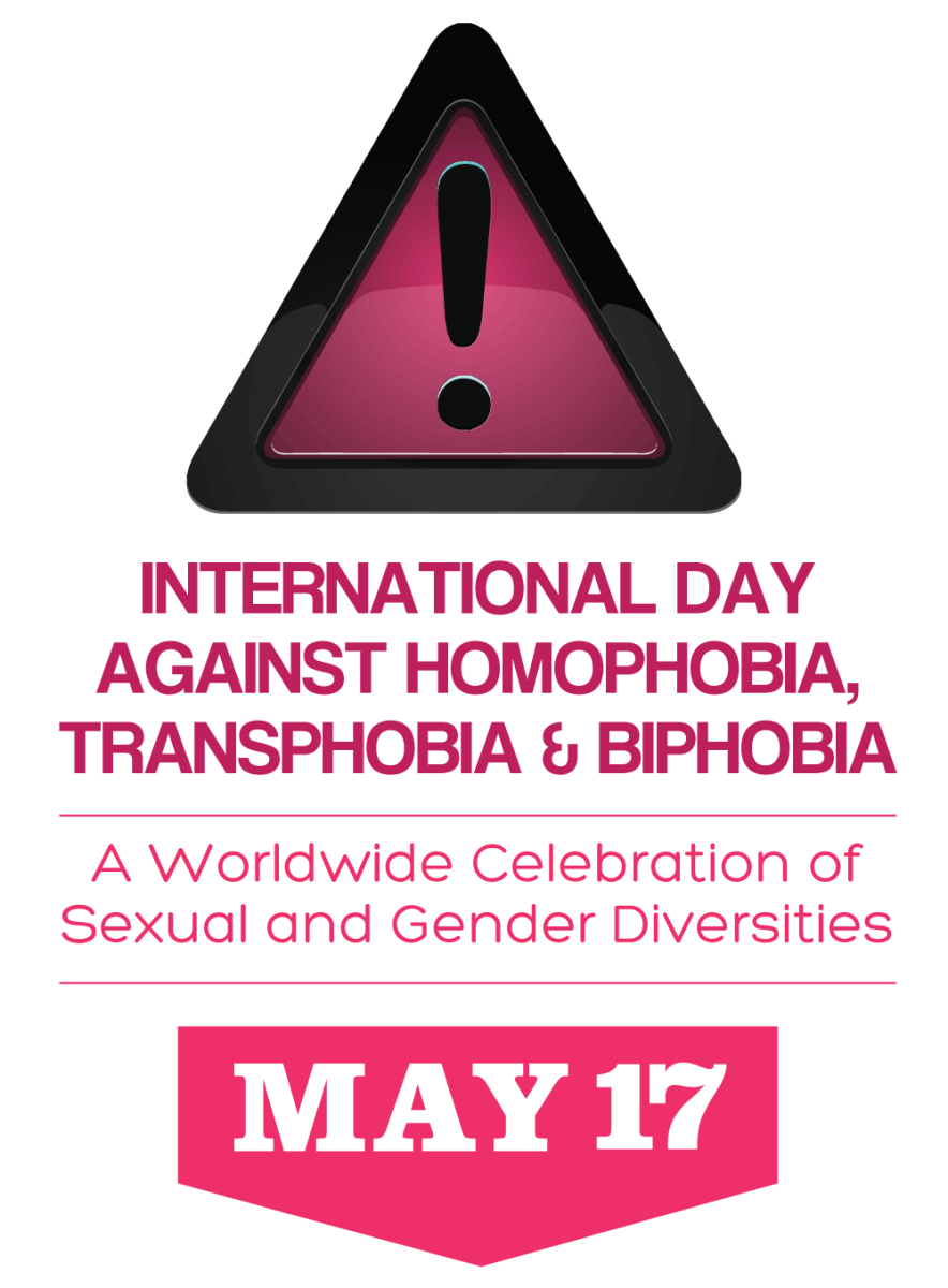 Logo for International Day Against Homophobia, Transphobia and Biphobia
