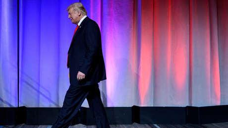 El presidente estadounidense, Donald Trump, en una cena del Partido Republicano de Ohio en Columbus, 24 de agosto de 2018