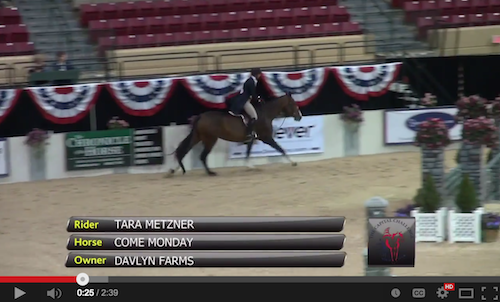 Watch the winning round for Tara Metzner and Come Monday!