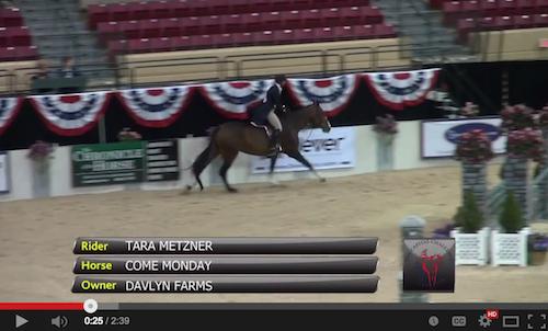 Watch the winning round for Tara Metzner and Come Monday!