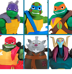 RISE OF THE TEENAGE MUTANT NINJA TURTLES FIGURES