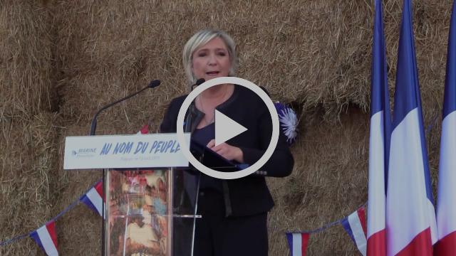 Réunion publique de Marine Le Pen à Pageas (13/04/2017)