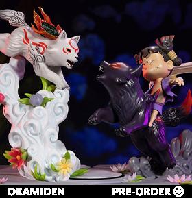Okamiden Chibiterasu vs. Dark Chibiterasu & Possessed Kuni Statue