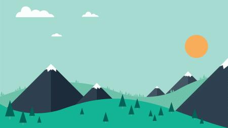 Mountain scene.