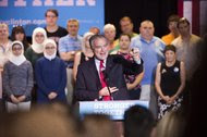 Senator Tim Kaine of Virginia, Hillary Clinton's running mate, at a Clinton rally in Grand Rapids, Mich., on Friday.