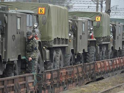 Tropas militares en Crimea.