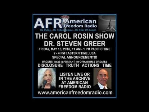 Dr. Steven Greer on Carol Rosin Show: New Critical Urgent Disclosure Information, May 2016  Hqdefault