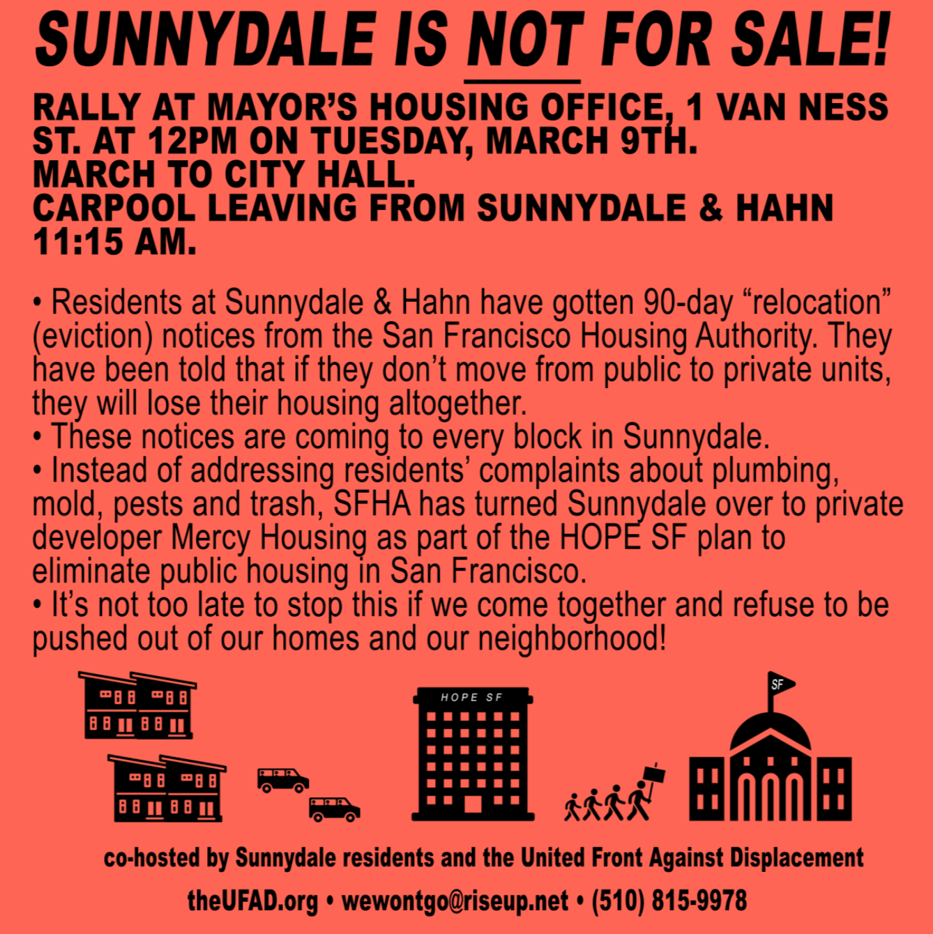Rally: Sunnydale is NOT for Sale! @ Mayor's Housing Office