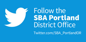 Follow SBA Portland District on Twitter banner
