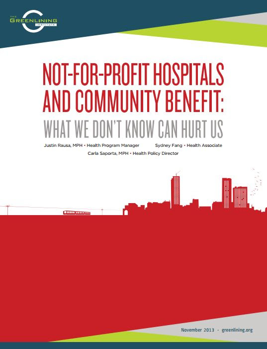 Not-For-Profit Hospitals and Community: What We Don't Know Can Hurt Us