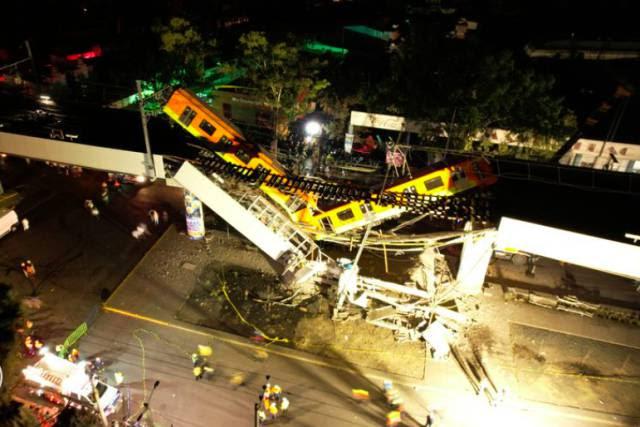 Queda de viaduto do metrô deixa 24 mortos na Cidade do México