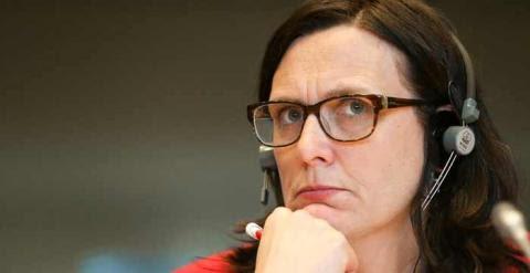 La comisaria de Comercio de la UE, Cecilia Malmström. / MANUEL RUIZ RICO