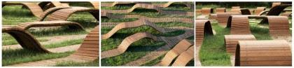 """Artesanía Bejarano 0280-intro-5 """"Root Bench"""", mobiliario urbano en Corea del Sur. Ingenioso laberinto circular demadera. Noticias"""