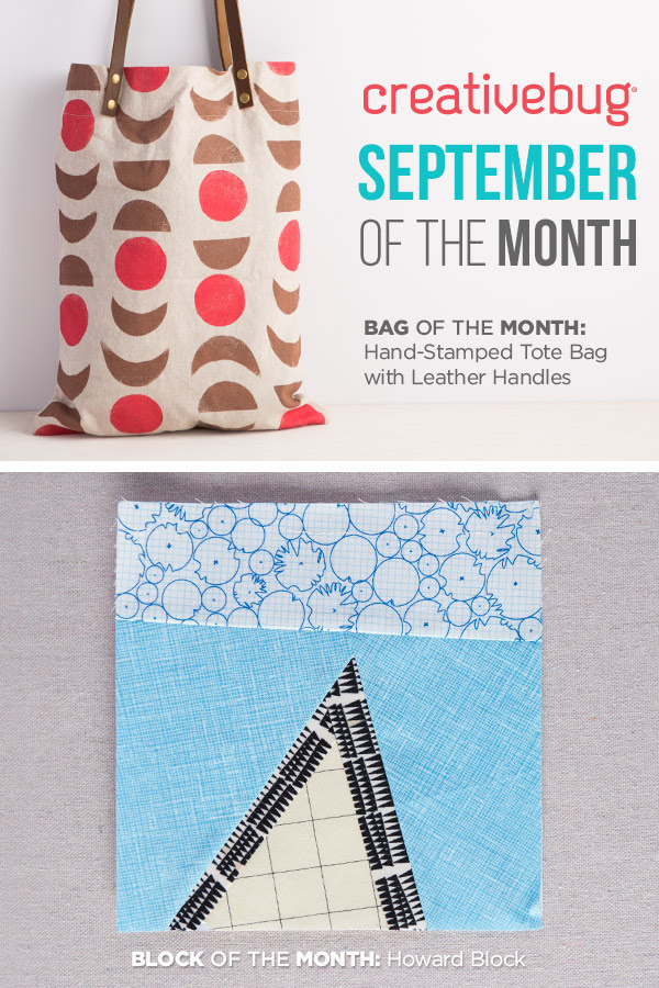New Bag and Block Of The Month...