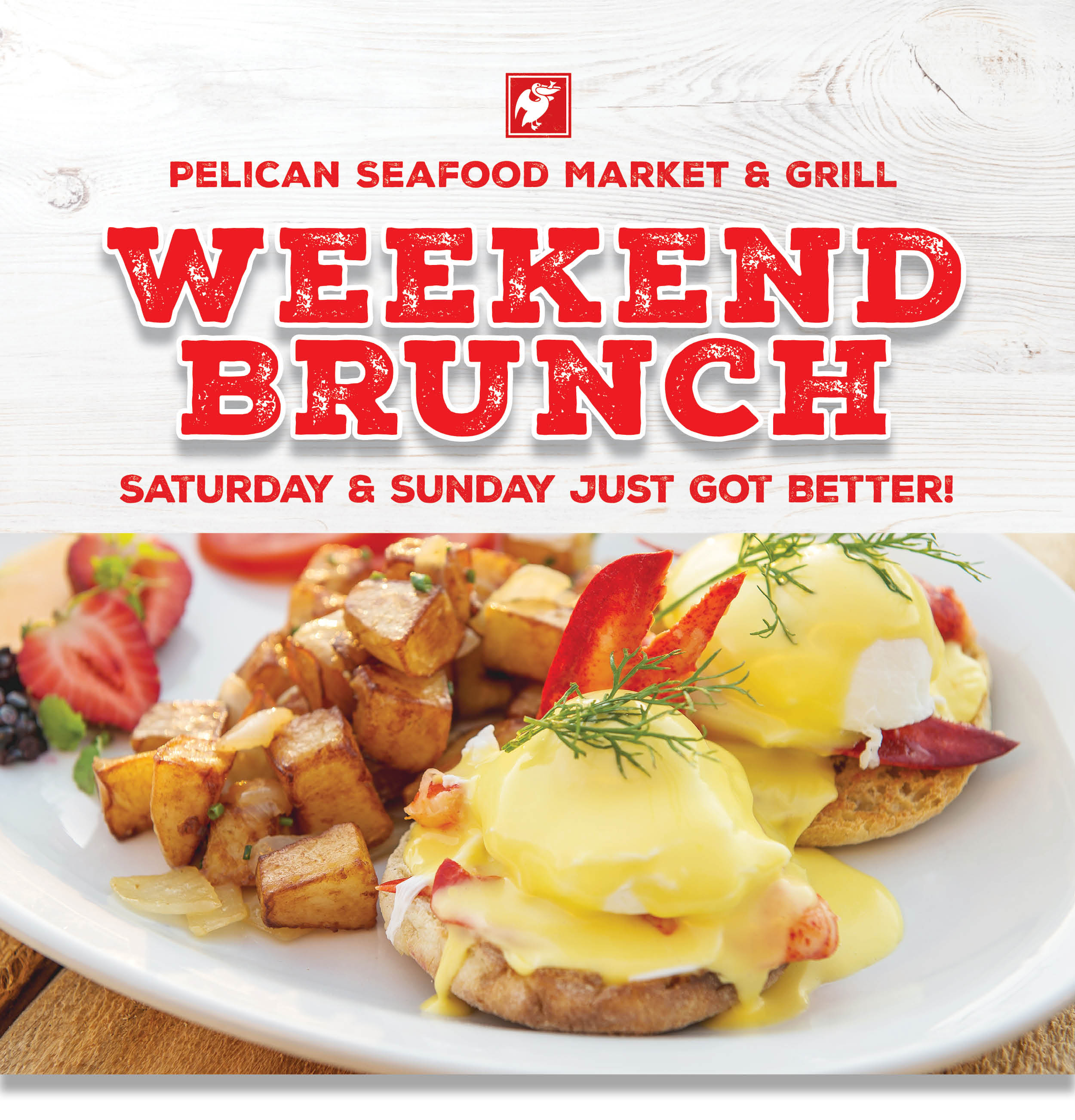 Weekend Brunch + Tag WHT Bkgd